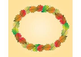 Free Fall Leaf Vector Frame