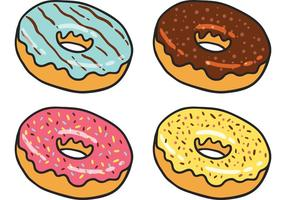 Pacote do vetor Donut