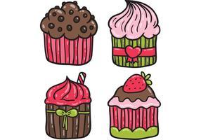 Pacote de vetores Cupcake grátis