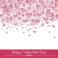 Valentine Hearts Vector Background