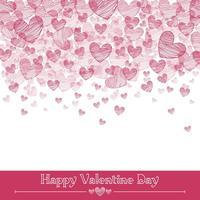 San Valentino cuori sfondo vettoriale