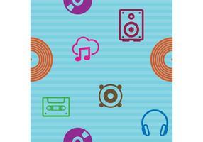 Padrão de vetor de música