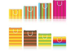 Färgglada presentväskor vektorer