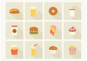 Gratis Fast Food Vector Pictogrammen