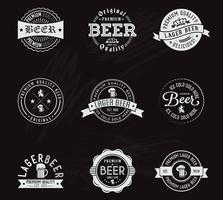 Libre Vector Chalk Cerveza Badges