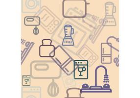 Küche Vektor Artikel Hintergrund