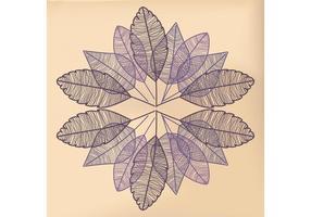Vettori di foglie disegnate a mano