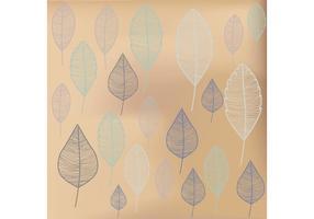 Fondo disegnato di vettore delle foglie disegnate a mano