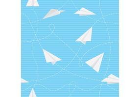 Papper flygplan vektor mönster