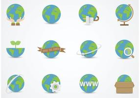 Kostenlose Earth Globe Vector Flat Icons