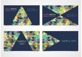 Free Trendy Triangle Business Card Templates vector