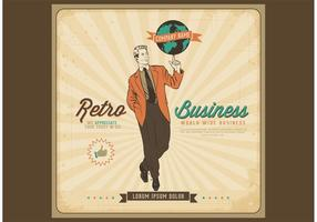 Gratis Vector Retro Business Poster