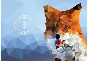 Free vector geometrischen polygon fox wallpaper