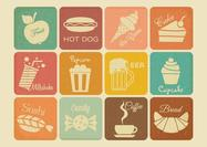 Free Retro Drink And Food Vector Icons
