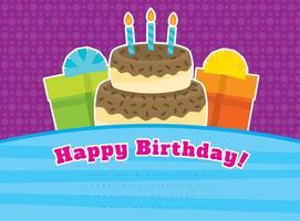 Tarjeta del vector del feliz cumpleaños