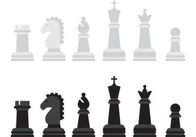 Pièces de jeu vectoriel d'échecs
