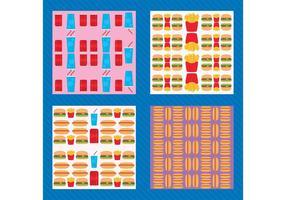 Patrón de vectores de comida rápida