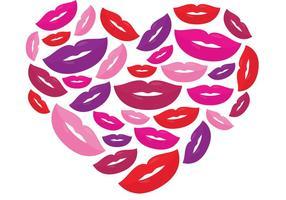 Corazón del vector del beso