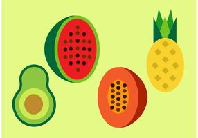 Free-fruits-vector-set