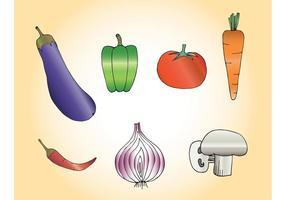Gratis Vector Grönsaker