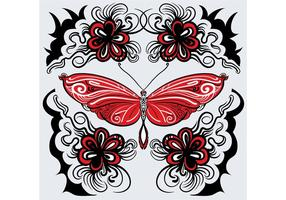 Gratis Vector Butterfly Pattern