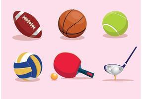 Equipamento de vetores esportivos