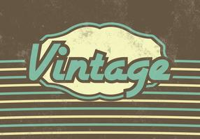 Striped Vintage Vector Background