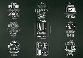 Vintage Chalkboard Quote Badges Vector Set