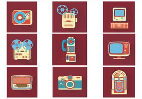 Vintage-electronics-vector-pack