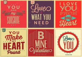Love Quote Vector Background Pack