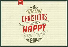 Vintage Evergreen Christmas Vector Background