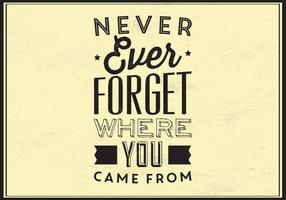 Never Forget Vector Typographic Poster