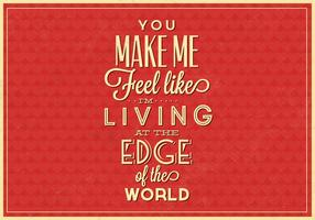 Living on the Edge Vector Typographic Poster