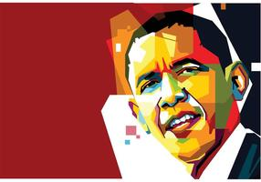 Vector libre de Obama Vector Retrato Dos