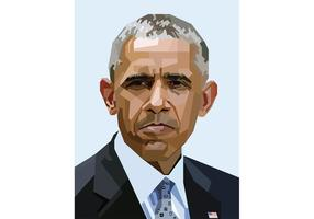 Free Obama Vector Portrait Skintone