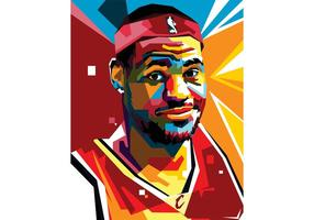 Lebron Vector Portrait Two