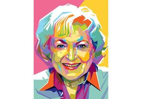 Kostenlose Betty White Vector