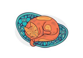 Free Vector Sleeping Cat