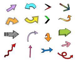 Flechas vectoriales libres