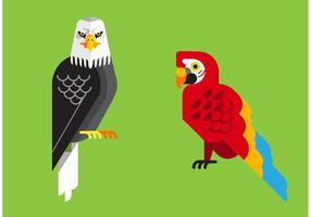 Tropical-birds-vector-pack