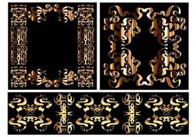 Gratis Vector Tribal Ornament Set