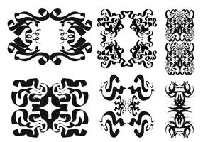Gratis Tribal Vector Ornament Set