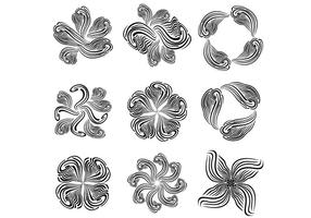 Free-abstract-vector-flower-set
