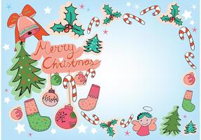 Gratis Vector Christmas Greeting Card