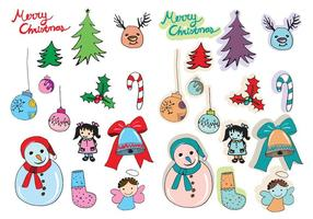 Free Vector Christmas Set