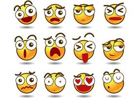 Emoji vektorer