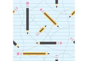 Pencils Vector Pattern