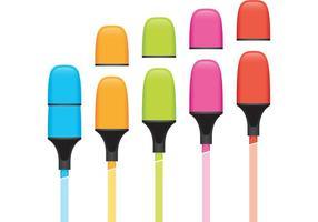 Marker Vector marcadores de colores
