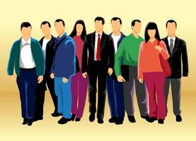 Gruppe von Menschen Vektor