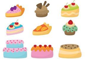 Nette Kuchen Vektoren